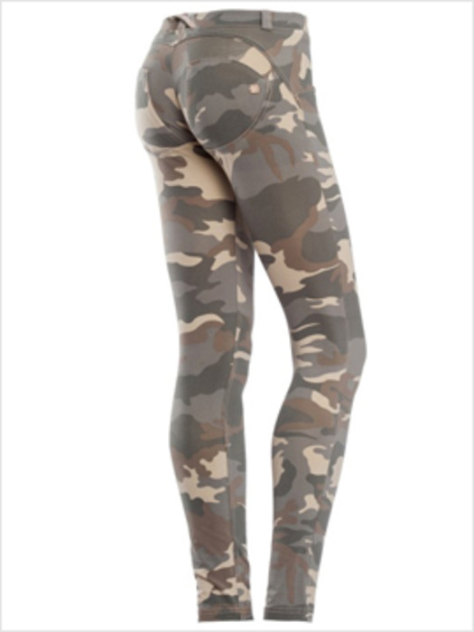 비타바사 스템파 카무 Z48 - WR.UP® SHAPING EFFECT - VITA BASSA - SKINNY - STAMPA CAMO ALL-OVER